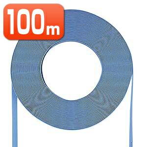 LANケーブル 100m 自作用 より線 自作用 カテゴリ5e (カテゴリー5e) ライトブルー フラットタイプ ケーブルのみ 100m より線 [LA-FL5-CB100LB]【サンワサプライ】【送料無料】, 岩瀬村:f2ada055 --- sunward.msk.ru