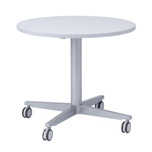 ミーティングデスク 丸型 キャスター付 ミーティングテーブル [ME-R80C]【サンワサプライ】【大物商品】