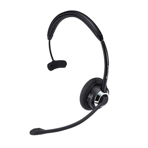 Bluetoothヘッドセット(ワイヤレス・片耳・オーバーヘッド・コールセンター向け)[MM-BTMH39BK]【送料無料】