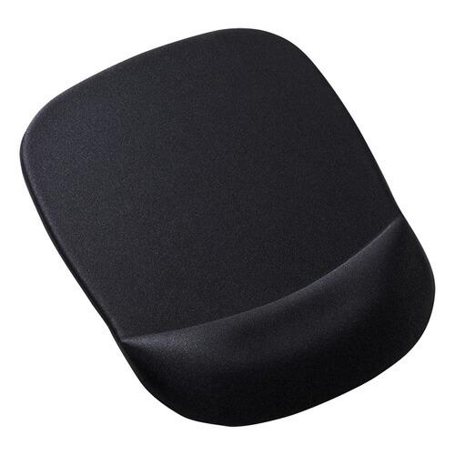 [MPD-MU1NBK] 低反発リストレスト付きマウスパッド(ブラック)