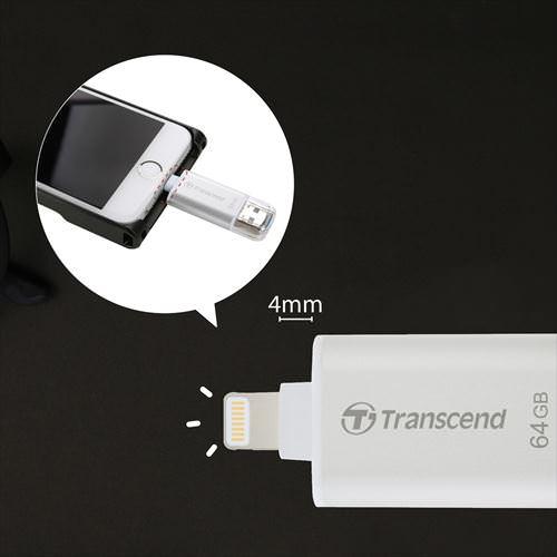 【4月4日値下げしました】Lightning対応 Transcend iPhone・iPad USBメモリ 64GB JetDrive Go 300 USB3.1対応 USBメモリー 大容量 MFI認証品 入学 卒業 ホワイトデー おしゃれ[TS64GJDG300S]【ネコポス専用】