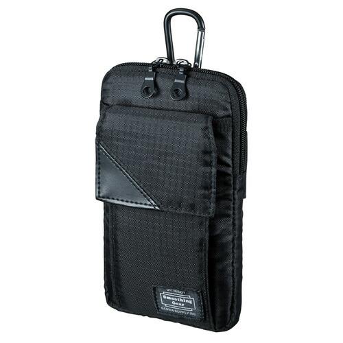 iPhone8 Plus対応 スキミング防止ポケット付きマルチガジェットケース(L・ブラック)[PDA-MGSG3BK]