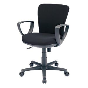 オフィスチェア ブラック ロッキング 肘付 椅子 [SNC-022KBK]【サンワサプライ】【大物商品】