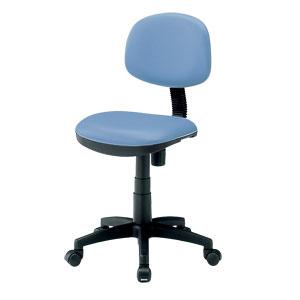 オフィスチェア ブルー 低ホルムアルデヒド ビニール レザー張り 学校向け 椅子 [SNC-E3KVBL2]【サンワサプライ】【送料無料】