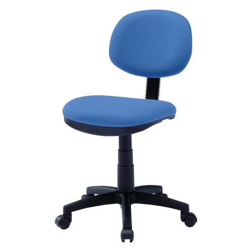 オフィスチェア ブルー 低ホルムアルデヒド 背もたれチルト機能 椅子 [SNC-E9BL]【サンワサプライ】【送料無料】