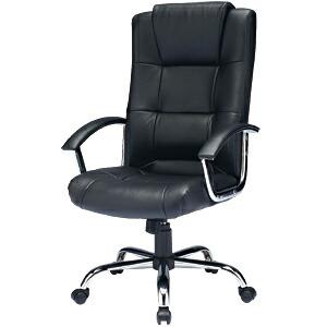 レザーチェア 本革張り ハイバック ロッキング パソコンチェア プレジデントチェア オフィスチェア 椅子 [SNC-L7K]【サンワサプライ】【大物商品】