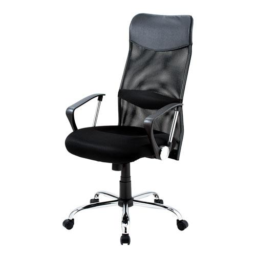 メッシュチェア ネットチェア 肘付 ハイバック ロッキング パソコンチェア オフィスチェア 椅子 腰痛対策