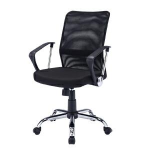 メッシュチェア ネットチェア 肘付 ロッキング パソコンチェア オフィスチェア 椅子 [SNC-NET16ABK]【サンワサプライ】【送料無料】
