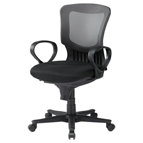 メッシュチェア ネットチェア グレー 肘置 パソコンチェア オフィスチェア 椅子 [SNC-NET19AGY]【サンワサプライ】【大物商品】