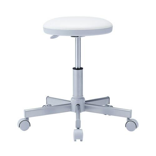 丸椅子 ホワイト 病院向け 背もたれ無し オフィスチェア 椅子 腰掛け [SNC-RD4VW2]【送料無料】