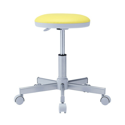 丸椅子 イエロー 病院向け 背もたれ無し オフィスチェア 椅子 腰掛け