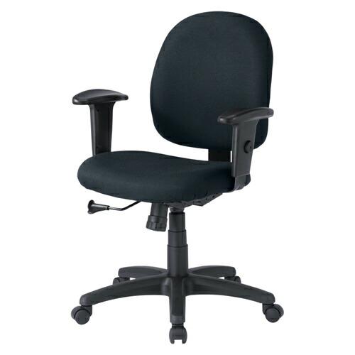 オフィスチェア ブラック 肘付 ロッキング 椅子