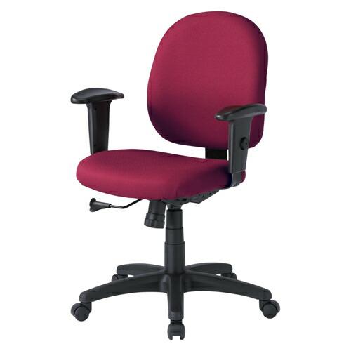 オフィスチェア レッド 肘付 ロッキング 椅子