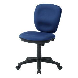 オフィスチェア ブルー 大型座面 ロッキング 椅子 [SNC-T146BL]【サンワサプライ】【送料無料】