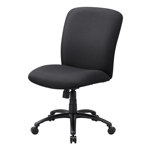 高耐荷重オフィスチェア(耐荷重120kg・ロッキング機能付き・ブラック) 椅子
