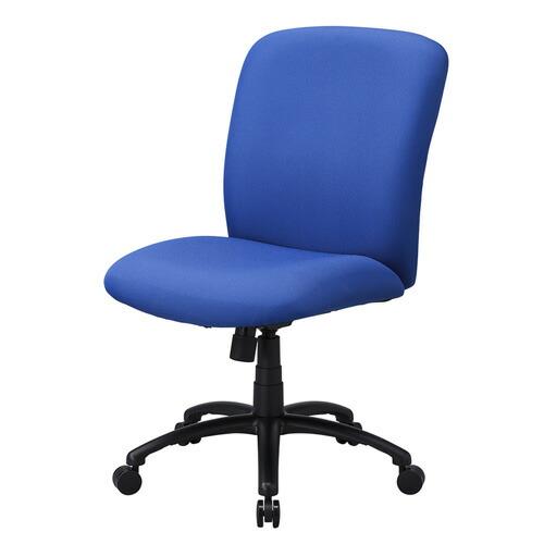 高耐荷重オフィスチェア(耐荷重120kg・ロッキング機能付き・ブルー) 椅子