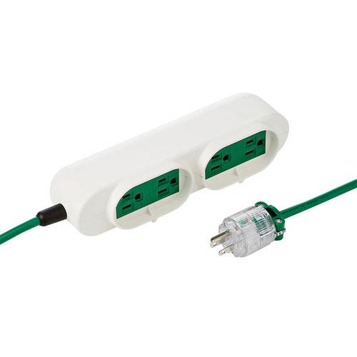 医療用タップ(3m・グリーン・JIS T1021適合)[TAP-MR7548TD3M]【送料無料】