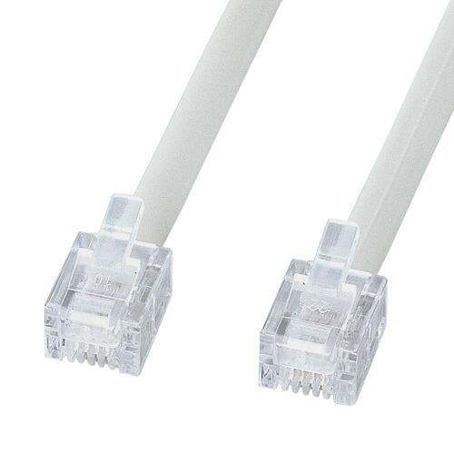 新色 TEL-EN-7N2 電話ケーブル エコロジー お求めやすく価格改定 ノーマル ホワイト 7m