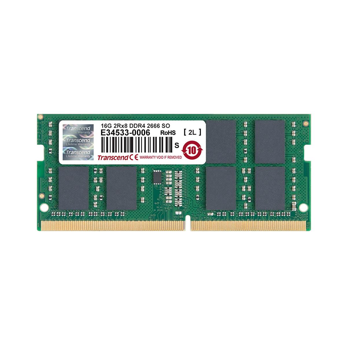 【1月17日値下げしました】Transcend 増設メモリー 16GB ノートPC用 DDR4-2666 PC4-21300 SO-DIMM PCメモリ メモリーモジュール ノートパソコン用[TS2GSH64V6B]【ネコポス対応】【BOX受取対象商品】【送料無料】