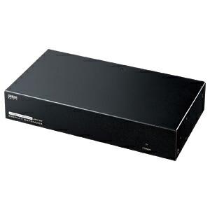 ディスプレイエクステンダー AVエクステンダー LAN 送信機 4分配 アナログディスプレイ映像と音声を最大180m先まで延長 [VGA-EXAVL4]【サンワサプライ】【送料無料】