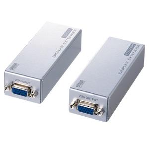 【店内全品ポイント5倍~11/11(日)23:59まで】ディスプレイエクステンダー VGAエクステンダー LAN ディスプレイ延長 送信機・受信機のセット [VGA-EXSET1]【サンワサプライ】【送料無料】