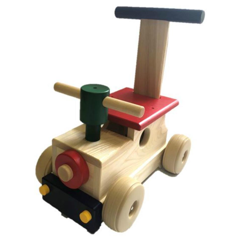 カラフルロコ MOCCO丁寧作られた平和工業の日本製の木のおもちゃ手押し車としても使えます。出産祝いや1歳の誕生日プレゼントに最適です。タイヤは床や壁を傷つけにくいソフトプラスチックです。【サイズ本体】W37.5×D23×H39.5cm、重さ2150g