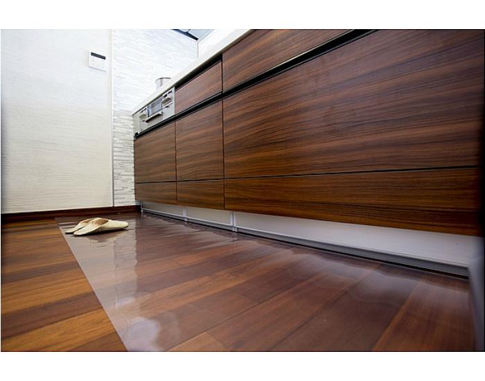 80cm×360cm キッチン透明フロアマット 極薄1mm厚 アキレス【透明 床 キズ防止 日本製 防汚 水はね 油はね 床保護 ダイニング保護 送料無料】