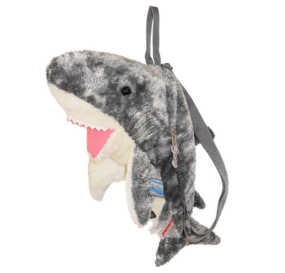 サメの可愛いバックパックです バックパック サメ 当店は最高な サービスを提供します ぬいぐるみ 1年保証 AURORA 海の生き物 WORLD オーロラワールド