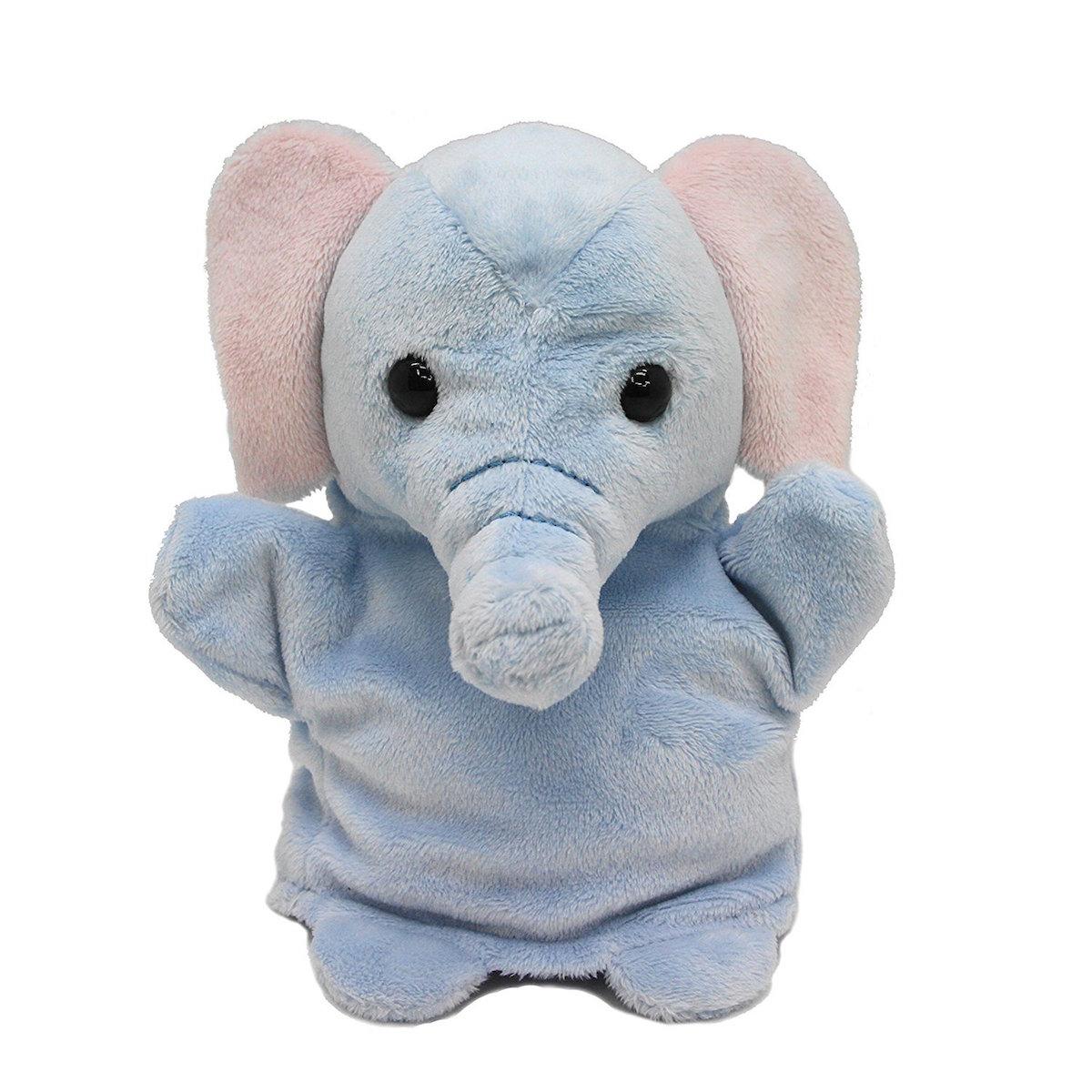 ゾウの可愛いハンドパペットです ネイチャーキッズ ハンドパペット ゾウ ぬいぐるみ チープ AURORA 陸の生き物 オーロラワールド WORLD 購買