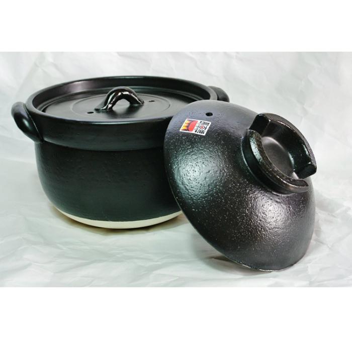 ふっくらご飯鍋(二重蓋)3合 4号 5合炊 34-09-11-SE 万古焼 土鍋 美味しく炊ける しゃもじが乗せれる 直径23センチ 職人の丁寧な仕上げ