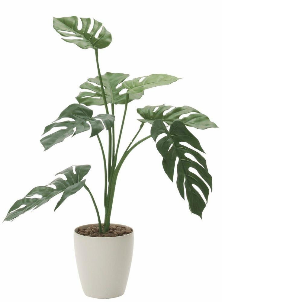 光触媒 人工観葉植物 造花 フェイクグリーン 光の楽園 モンステラ 75cm おしゃれ インテリア 225E90