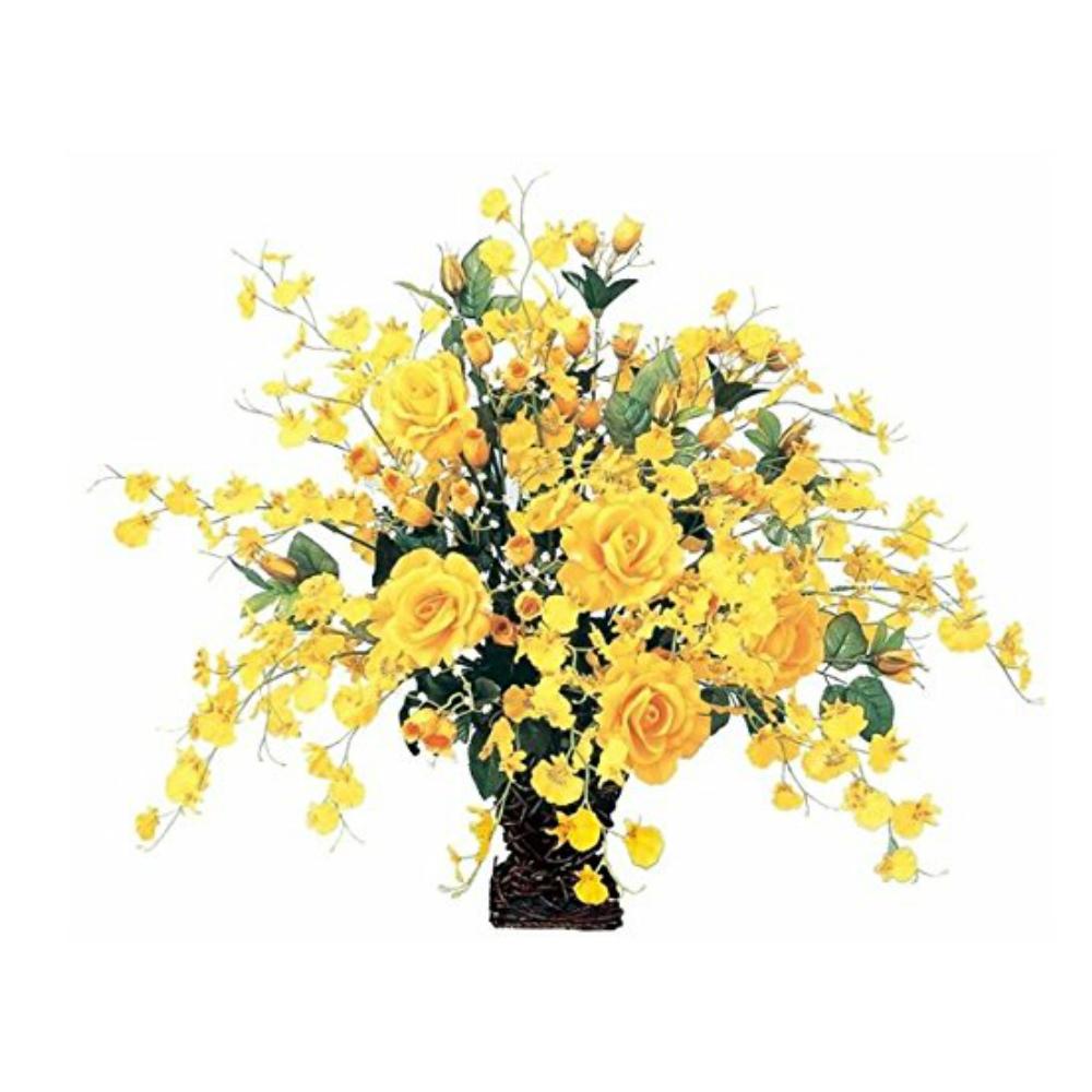 光触媒 人工観葉植物 造花(フェイクグリーン フェイクフラワー)光の楽園 アートフラワー ゴールドエース 37A100お部屋の消臭・抗菌・防汚効果があります。水やり・お手入れ不要置くだけで素敵な癒し空間約 幅70×奥行40×高さ55cm
