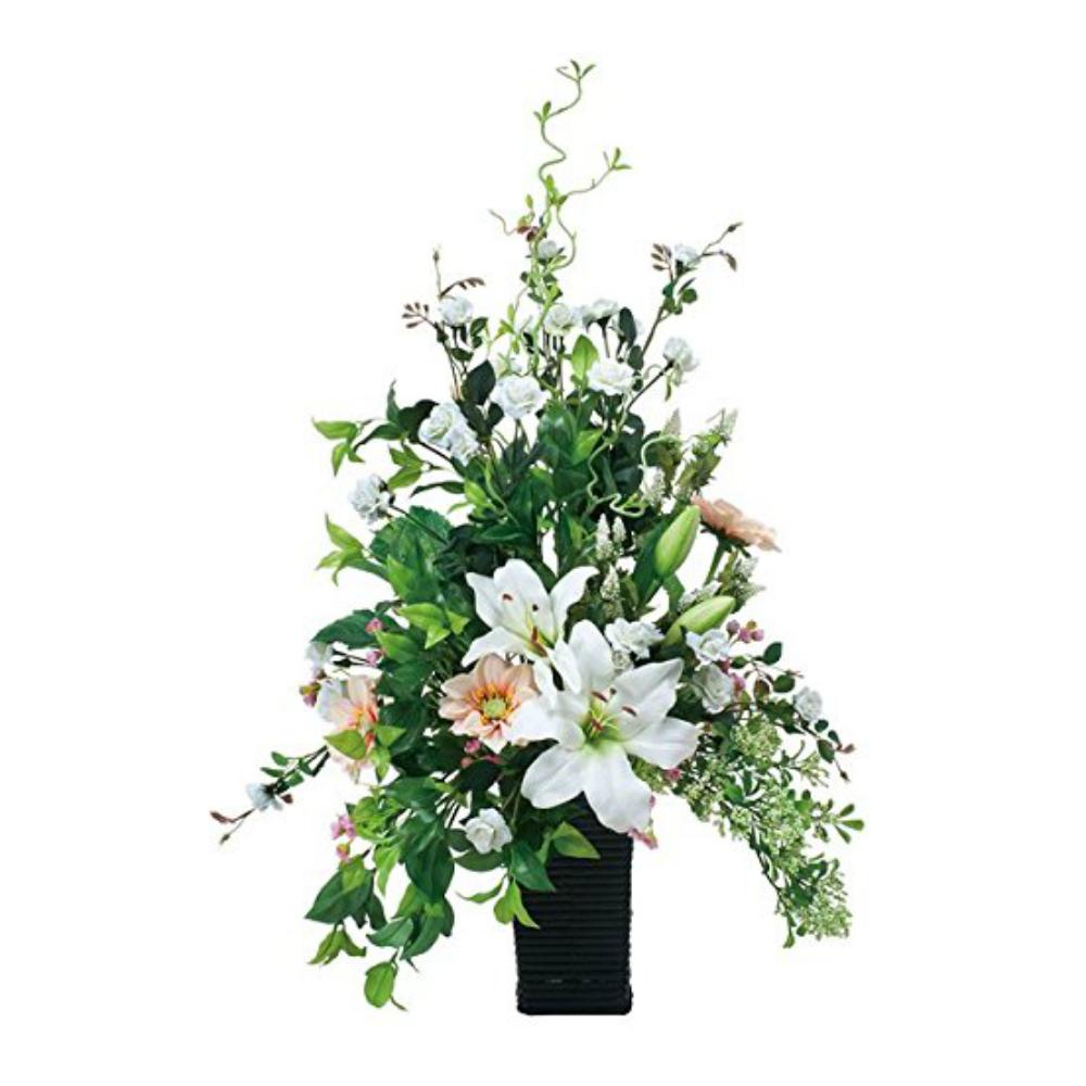 光触媒 人工観葉植物 造花(フェイクグリーン フェイクフラワー)光の楽園 アートフラワー カサブランカ 537A150お部屋の消臭・抗菌・防汚効果があります。水やり・お手入れ不要置くだけで素敵な癒し空間を演出してくれます。