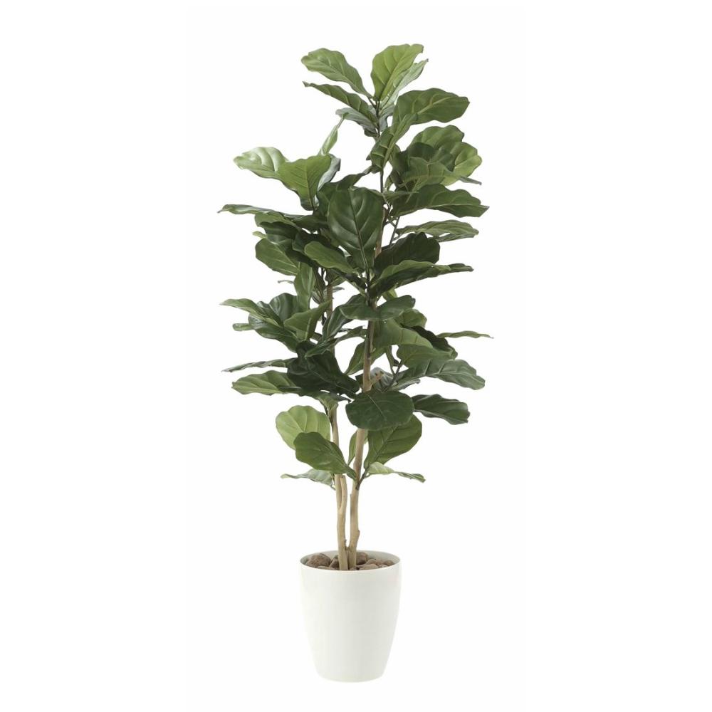 光触媒 人工観葉植物 造花 フェイクグリーン 光の楽園 カシワバゴム 1.35m おしゃれ インテリア 大型 609E230