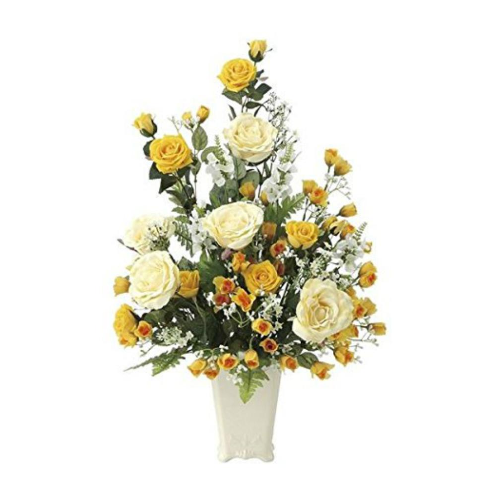 光触媒 人工観葉植物 造花(フェイクフラワー)光の楽園 アートフラワー レーシーレディ 667A120お部屋の消臭・抗菌・防汚効果があります。水やり・お手入れ不要置くだけで素敵な癒し空間約 幅44×奥行40×高さ67cm