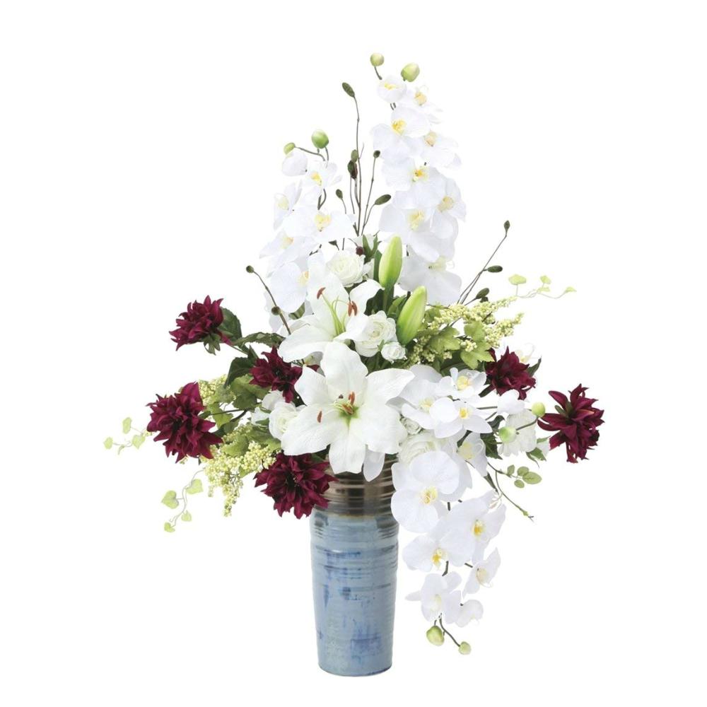 光触媒 人工観葉植物 造花(フェイクフラワー)光の楽園 アートフラワー ロワイヤル 838A200お部屋の消臭・抗菌・防汚効果があります。水やり・お手入れ不要置くだけで素敵な癒し空間約 幅50×奥行38×高さ80cm