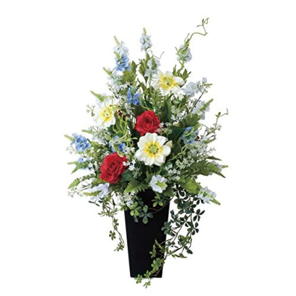 光触媒 人工観葉植物 造花(フェイクフラワー)光の楽園 アートフラワー グランディア 456A200お部屋の消臭・抗菌・防汚効果があります。水やり・お手入れ不要置くだけで素敵な癒し空間約 幅55×奥行40×高82cm