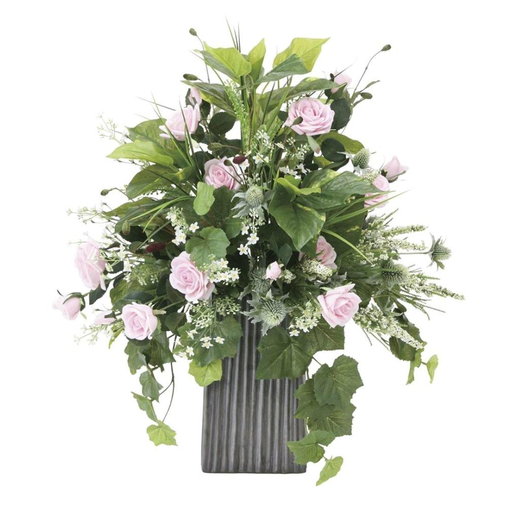 光触媒 光の楽園 パリスピンク 837A220約 幅50×奥行40×高さ63cm人工観葉植物 造花 フェイクグリーン フェイクフラワー フラワーアレンジメント おしゃれ インテリア 卓上
