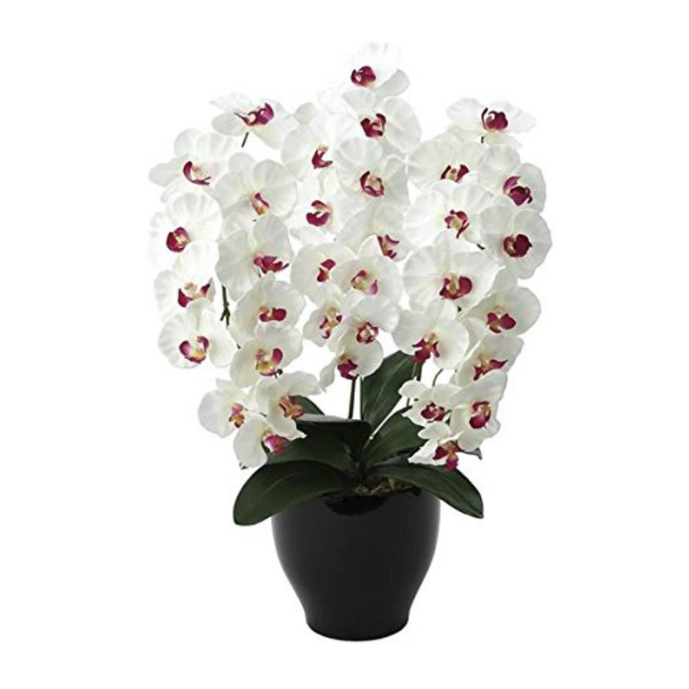 光触媒 人工観葉植物 造花(フェイクフラワー)光の楽園 アートフラワー プレミアム胡蝶蘭 661A125お部屋の消臭・抗菌・防汚効果があります。水やり・お手入れ不要置くだけで素敵な癒し空間約 幅45×奥行40×高さ68cm