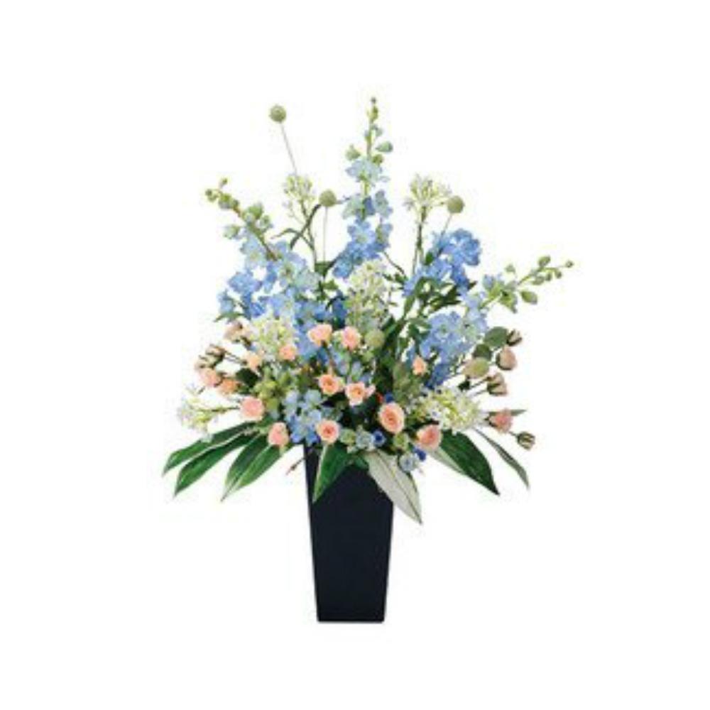 光触媒 人工観葉植物 造花(フェイクフラワー)光の楽園 アートフラワー スイートブルー 306A300お部屋の消臭・抗菌・防汚効果があります。水やり・お手入れ不要置くだけで素敵な癒し空間約 幅60×奥行40×高さ88cm
