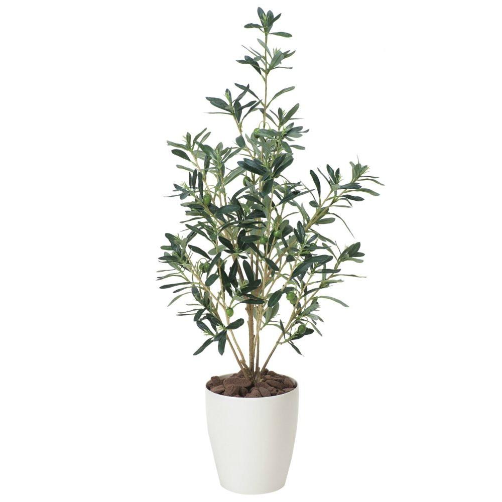 光触媒 人工観葉植物 造花 フェイクグリーン 光の楽園 オリーブ 90cm おしゃれ インテリア 378A100