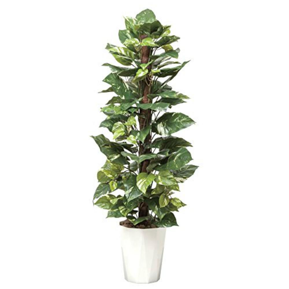 光触媒 人工観葉植物 造花(フェイクグリーン・フェイクフラワー)光の楽園 ポトス1.35m 511A250お部屋の消臭・抗菌・防汚効果があります。水やり・お手入れ不要置くだけで素敵な癒し空間を演出してくれます。