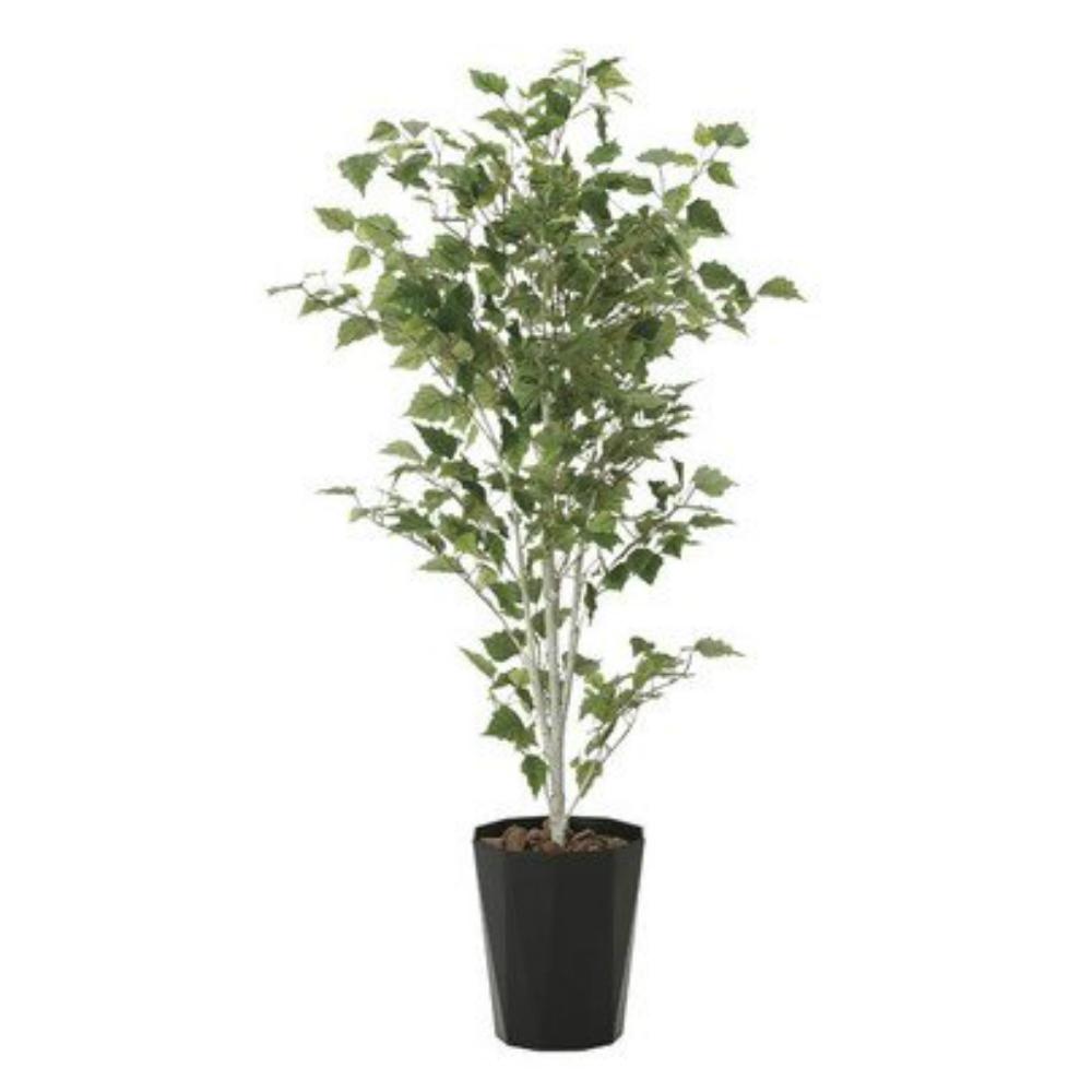 光触媒 人工観葉植物 造花(フェイクグリーン・フェイクフラワー)光の楽園 白樺1.4m 607A270お部屋の消臭・抗菌・防汚効果があります。水やり・お手入れ不要置くだけで素敵な癒し空間を演出してくれます。