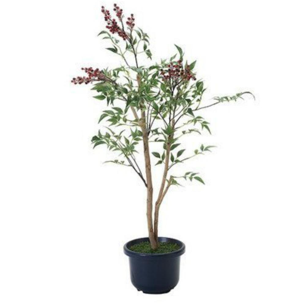 光触媒 人工観葉植物 造花(フェイクグリーン・フェイクフラワー)光の楽園 南天1.0m 377C120お部屋の消臭・抗菌・防汚効果があります。水やり・お手入れ不要置くだけで素敵な癒し空間を演出約 幅50×奥行45×高さ100cm