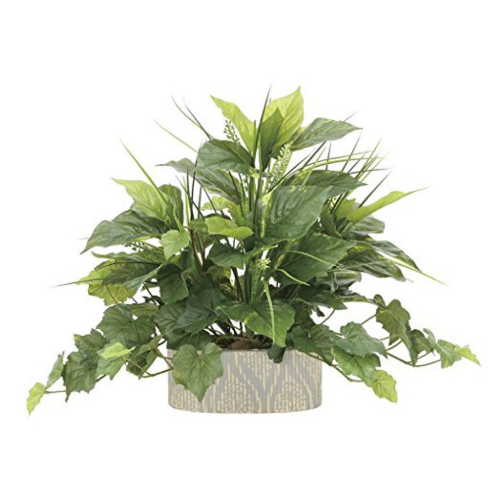 光触媒 光の楽園 フレッシュミックス 874A100約 幅55×奥行35×高さ42cm人工植物 造花 フェイクグリーン おしゃれ インテリア 小型 卓上