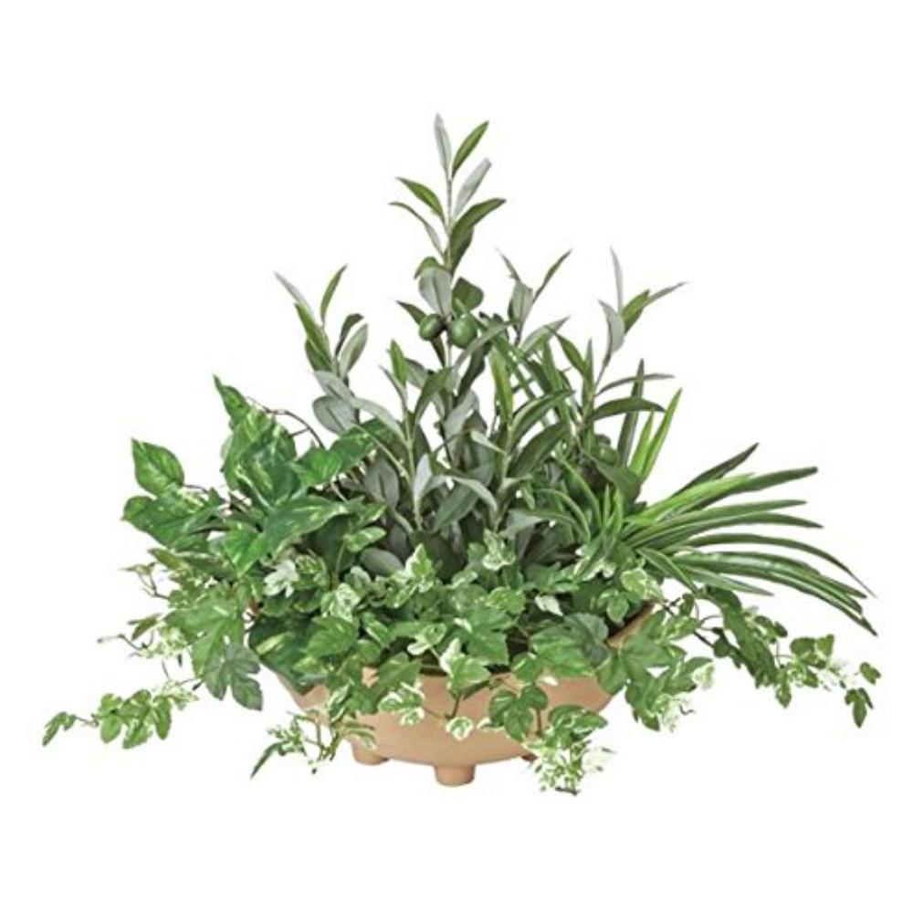 光触媒 光の楽園 寄せ植えオリーブ 383A100約 幅50×奥行45×高さ48cm人工植物 造花 フェイクグリーン おしゃれ インテリア 小型 卓上