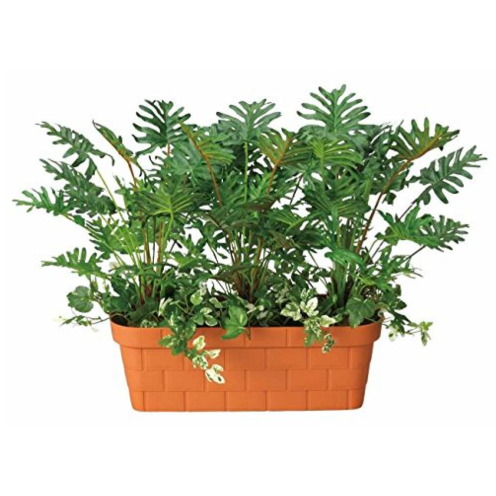 光触媒 光の楽園 スプリットプランター 217A100約 幅60×奥行35×高さ45cm人工植物 造花 フェイクグリーン おしゃれ インテリア 大型 置き物