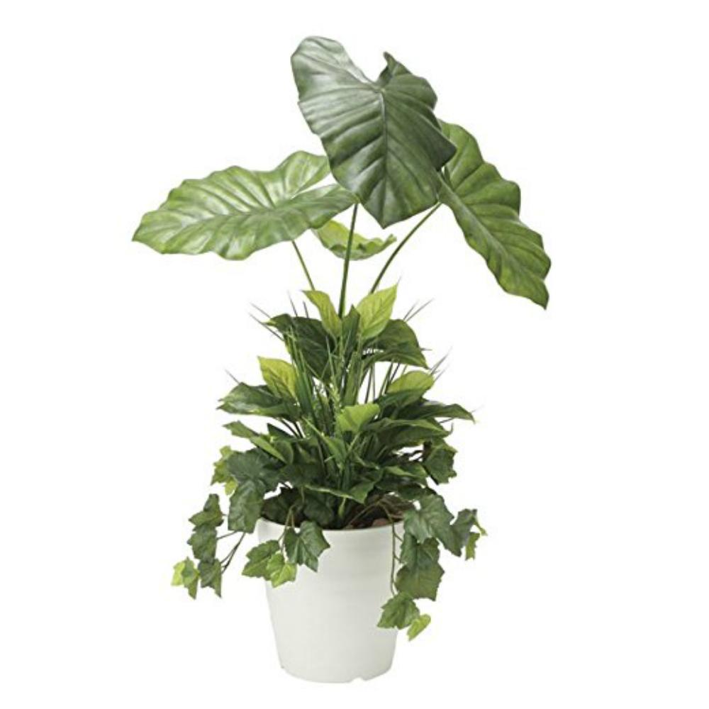 光触媒 光の楽園 タロリーフ90植栽付 873A170約 幅55×奥行45×高さ90cm人工植物 造花 フェイクグリーン おしゃれ インテリア 大型