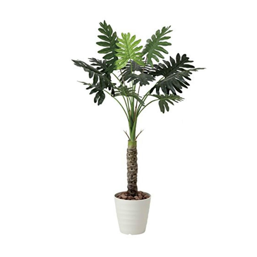 光触媒 人工観葉植物 造花(フェイクグリーン・フェイクフラワー)光の楽園 セローム1.3m 425A175お部屋の消臭・抗菌・防汚効果があります。水やり・お手入れ不要置くだけで素敵な癒し空間を演出約 幅75×奥行75×高さ130cm