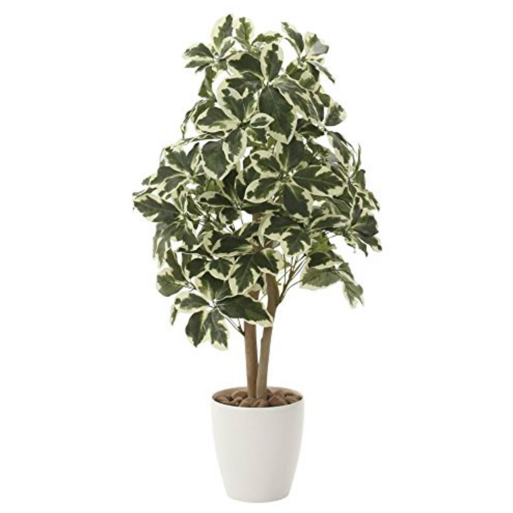 光触媒 人工観葉植物 造花(フェイクグリーン・フェイクフラワー)光の楽園 斑入シェフレラ90cm 733A150お部屋の消臭・抗菌・防汚効果があります。水やり・お手入れ不要置くだけで素敵な癒し空間約 幅50×奥行50×高さ110cm